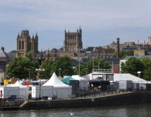 Bristol cathedral from across docks - Bristol treasure hunt