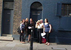 Megan Russell and friends on Spitalfields Treasure Hunt